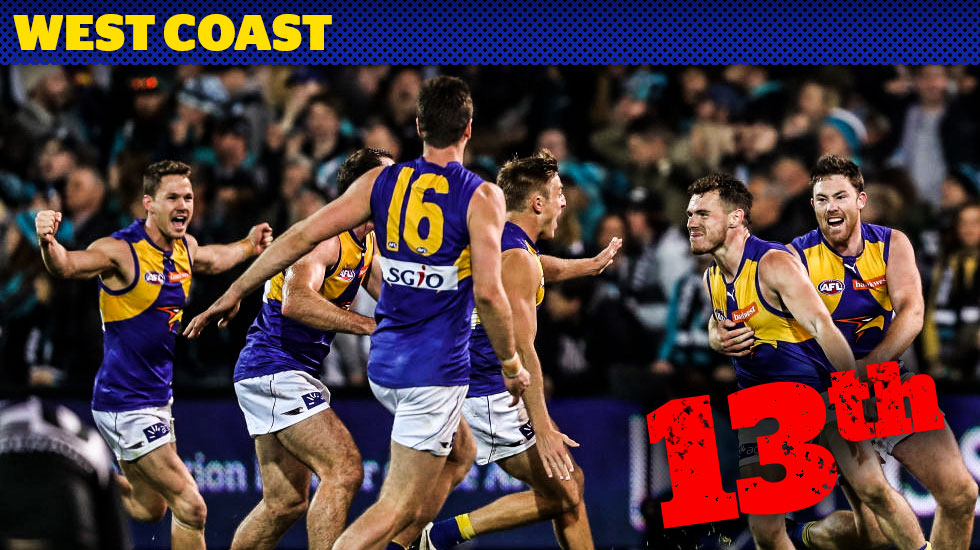 Footyology countdown: Things look wobbly for West Coast