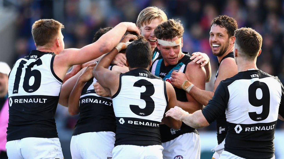 Tale of the tape for your AFL team in 2018: Port Adelaide