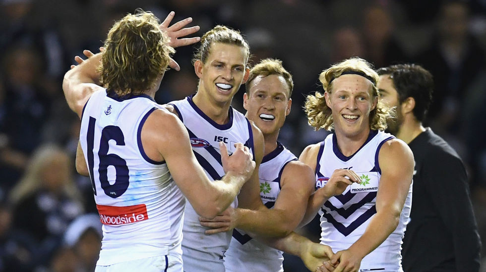 Fremantle finally fires up away as Carlton can't be bothered